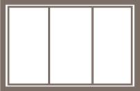 1/3-1/3-1/3 Slider Window