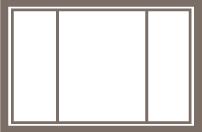 1/4-1/2-1/4 Slider Window