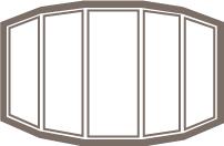 Five Wide Bow Window