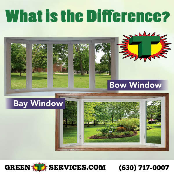Difference between bay window and bow window