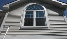 White Siding Windows