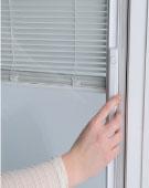 Casement Window Between the Glass Blinds
