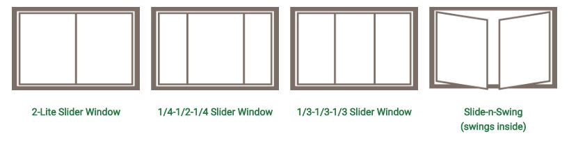 Sliding replacement window styles