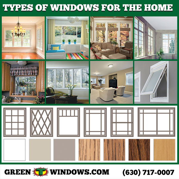 types of windows for homes Green T